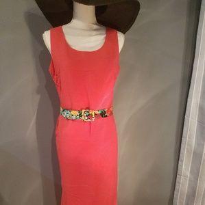 Coral sheath dress